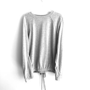 Tops - Grey sweatshirt with lace design in back